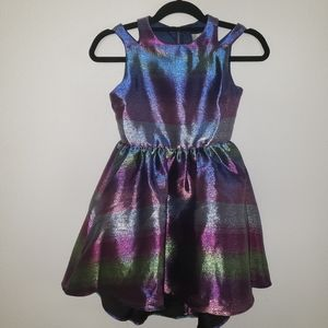 METALLIC Little Girls Dress